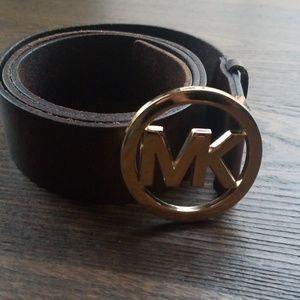Michael Kors leather belt size Large